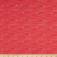 Riley Blake From The Heart Stripe Red