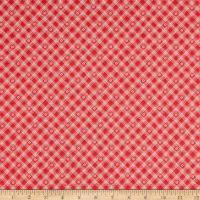 Riley Blake From The Heart Plaid Red