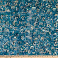 Banyan Batiks Modern Geometry Floral Blocks Blue Flower