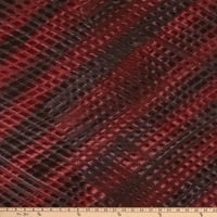 Banyan Batiks Modern Geometry Treads Red Taupe Trax