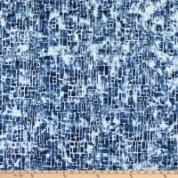 Banyan Batiks Modern Geometry Glass Mosaic Blues