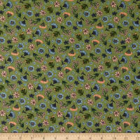 Northcott Bee Kind Floral Toss Green Multi