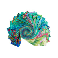 "EXCLUSIVE Kaffe Fassett Collective Design 2.5"" Roll 40 pcs Green"