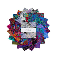 "EXCLUSIVE Kaffe Fassett Collective 10"" Charm Pack 42 pcs Dark"