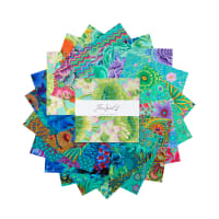 "EXCLUSIVE Kaffe Fassett Collective 10"" Charm Pack 42 pcs Green"