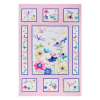 "Susybee Flutter the Butterfly Quilt 36"" Panel Pink"
