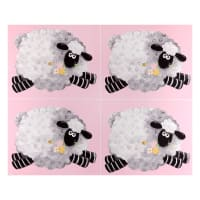 "Susybee Lal the Lamb Fat Quarter Sheep 36"" Panel Pink"