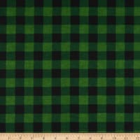 Wilmington Cabin Welcome Flannel Buffalo Plaid Green