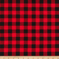 Wilmington Cabin Welcome Flannel Buffalo Plaid Red