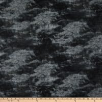 Wilmington Cabin Welcome Flannel Forest Texture Black