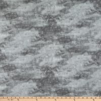 Wilmington Cabin Welcome Flannel Forest Texture Gray