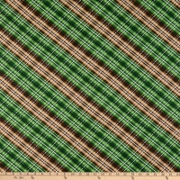Wilmington Cabin Welcome Flannel Plaid Green
