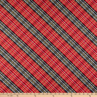 Wilmington Cabin Welcome Flannel Plaid Red