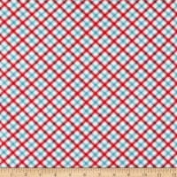 Wilmington Roots of Love Plaid Ivory/Red