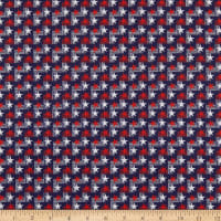 Benartex Your Vote Counts Stars And Stripes Navy