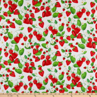 Kanvas Strawberry Fields Forever Strawberry Patch White