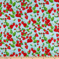 Kanvas Strawberry Fields Forever Strawberry Patch Blue
