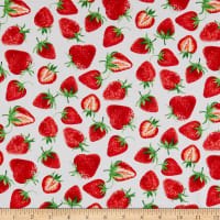 Kanvas Strawberry Fields Forever Strawberry Festival White