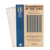 "Benartex Foundation By The Yard (Packs) Fbty Flying Geese4"" & 2""Pack"
