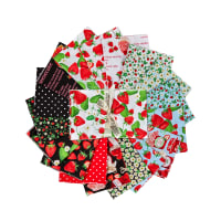 Kanvas Strawberry Fields Forever Fat Quarter Bundle 17Pcs Multi