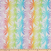 Kanvas Tropical Breeze Breezy Palm Trees White