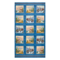 "Thomas Kinkade Coastal Haven Coastal Haven 24"" Panel Blue/Multi"
