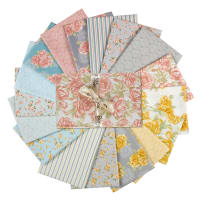 Benartex Grandeur Rose Fat Quarter Bundle 17 Pcs Multi