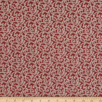 Benartex Color Traditions Scroll Red