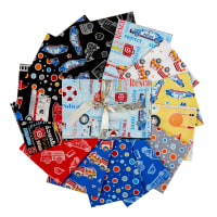 Kanvas Glow In The Dark Save The Day Fat Quarter Bundle 14 Pcs Multi