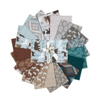 Benartex Modern Lodge Fat Quarter Bundle 17 Pcs Multi