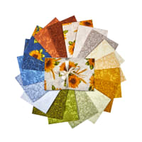 Benartex Accent On Sunflowers Fat Quarter Bundle 18Pcs Multi