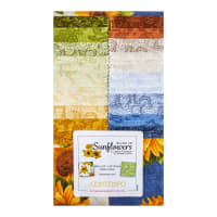 "Benartex Accent On Sunflowers 2.5"" Strippies 40pcs Multi"