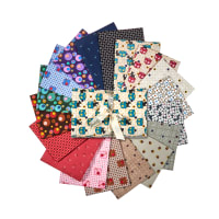 Benartex Lizzy Albright Attic Window Fat Quarter Bundle 18 Pcs. Multi