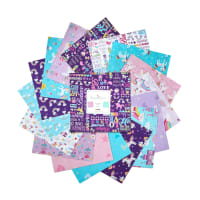"Kanvas Unicorn Magic 10"" Squares 42pcs Multi"