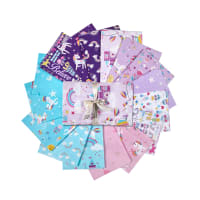 Kanvas Unicorn Magic Fat Quarter Bundle 16pcs Multi
