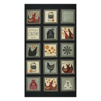 """Benartex Roost Roost Squares 24"""" Panel Multi"""
