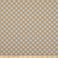 Benartex Lizzy Albright Cedar Chest Plaid Khaki
