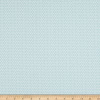 Contempo Words To Quilt By Geo Flower Teal/White