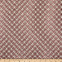 Benartex Lizzy Albright Cedar Chest Plaid Rose