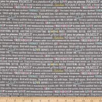 Contempo Words To Quilt By Quilter Words Grey