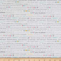 Contempo Words To Quilt By Quilter Words White