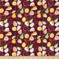 Marketa Stengl Digital Fresh Pears with Fruit Slices Red/Yellow