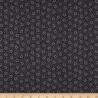 Fabric Traditions Heart Of America Stars And Dots Black/White