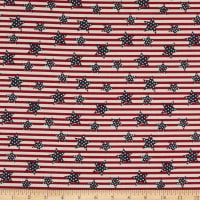 Fabric Traditions Heart Of America Stars And Stripes Red/White/Blue