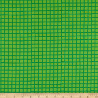 Andover Very Merry Groovy Grids Green