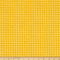 Andover Very Merry Groovy Grids Yellow
