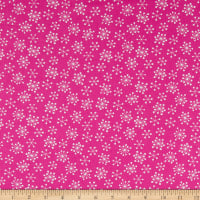 Andover Very Merry Starburst Snowflakes Pink