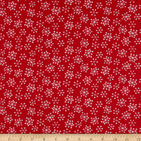 Andover Very Merry Starburst Snowflakes Red