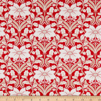 Andover Winter Rose Holly Damask Red