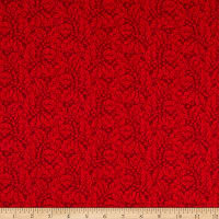 Andover Winter Rose Tonal Holly Red